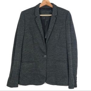 J CREW Single Button Jacket in Twill 10 gray  o806
